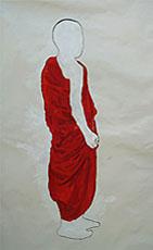 "HABIT I | Acrylic on paper  |  28""x45""  |  2008"