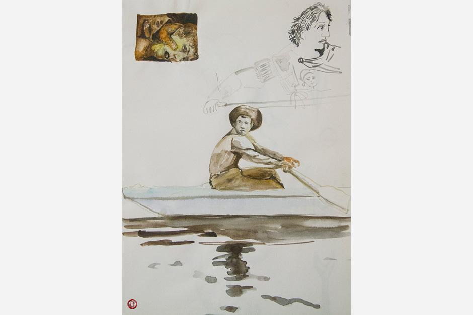 Boy Rowing: Isaac